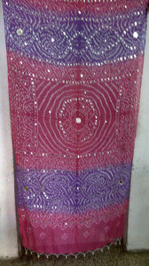 Brilliant  Banjara Veil with Sequins and Cowrie Shells! #13