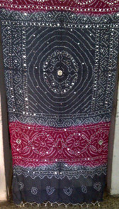 Brilliant  Banjara Veil with Sequins and Cowrie Shells! #14
