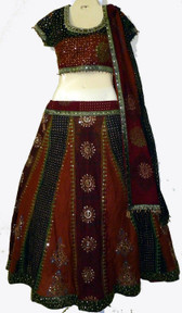 Wonderful Earthtone 3 pc. lLehnga