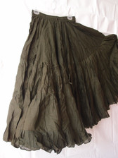 32  Yard Pure Cotton Skirt, Army Green