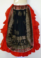 Radiant Red & Black Benjara Veil