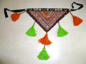 Banjara Tassel Belt with Orange and Green Tassels