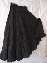 25 Yard Pure Cotton Skirt, BLACK