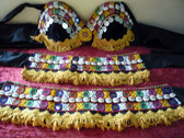 Beautiful 3 pc Tribal Bra Belt #6