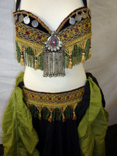 Great Green and Yellow Bra Belt Set #13