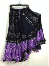25 yd Jaipur Tie Dye skirt Black Purple Combo