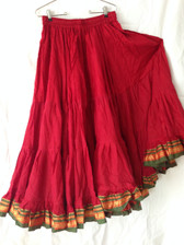Radiant Red  Aishwarya Skirt