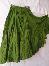 32 Yard Pure Cotton Skirt Olive Green