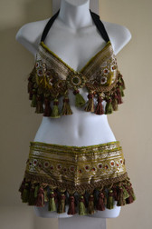 Beautiful Brocade Bra Belt Set  No.26