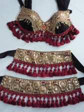 Beautiful Brocade Bra Belt Set  No.28