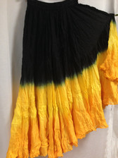 DIP DYE- 25-Yard Pure Cotton Skirts - Yellow Black