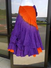 DIP DYE- 25-Yard Pure Cotton Skirts - Orange Purple