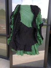 DIP DYE- 25-Yard Pure Cotton Skirts - Green Black