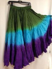 DIP DYE 25 Yard Pure Cotton Skirt  Peacock