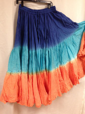 DIP DYE 25 Yard Pure Cotton Skirts Royal blue Teal Copper
