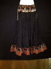 Beautiful Black Crushed Silk Skirt