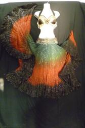 Gorgeous Dip Dye 25 Yard Lurex Skirt  Fiery Colors