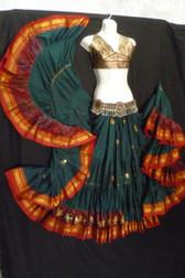 Beautiful Embroidered Aishwarya Skirt Peacock