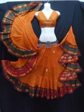Beautiful Embroidered Aishwarya Skirt Saffron