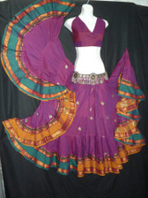 Beautiful Embroidered Aishwarya Skirt BRIGHT FUSHIA
