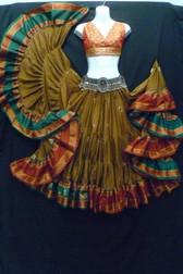 Beautiful Embroidered Aishwarya Skirt Olive