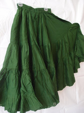 25 Yard Pure Cotton Light and Fluffy Skirt EMERALD GREEN