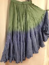 DIP DYE 25 Yard Pure Cotton Skirt Ocean