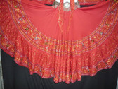 Beautiful Red Embroidered 25 Yard Skirt