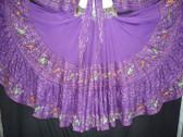 Beautiful Purple Embroidered 25 Yard Skirt