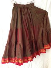 Iridescent Green Aishwarya Skirt