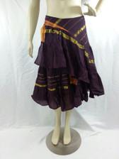 Half Aishwarya Wrap Skirt Eggplant