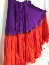 DIP DYE- 25-Yard Pure Cotton Skirts - Purple Orange