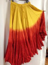 Dip Dye  25-Yard Pure Cotton Skirts - Sunburst