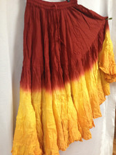 Dip Dye  25-Yard Pure Cotton Skirts - Fire