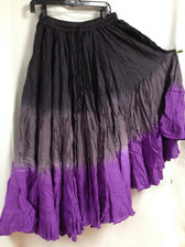 Dip Dye  25-Yard Pure Cotton Skirts - black grey purple