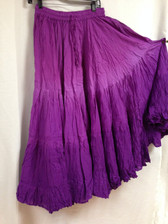 Dip Dye  25-Yard Pure Cotton Skirts - Shaded Purple