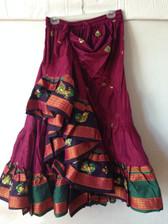 Embroidered Aishwarya Skirt Fushia