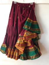 Embroidered Aishwarya Skirt Maroon