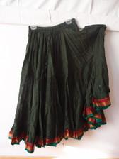 Striped Aishwarya Skirt Dark Green