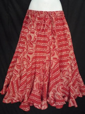 Valentines Scalloped 12 panel Skirt