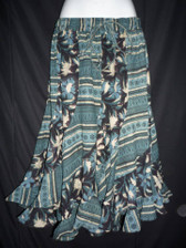 I Heart Teal Scalloped 12 panel Skirt