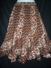 Brick Scalloped 12 panel Skirt