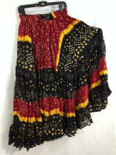 25 Yd JAIPUR SKIRT ATS Black Red and Yellow