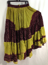 25 Yd JAIPUR SKIRT ATS limegreen and maroon