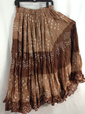 25 Yd JAIPUR SKIRT ATS Multi Brown Squares