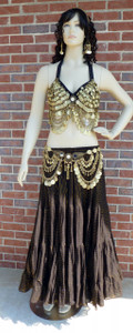 Gorgeous Black and Antique Gold Ensemble