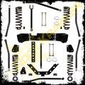 """2007 And Up Jeep JK Wrangler 3.5"""" Rock Krawler X Factor Long Arm System"""