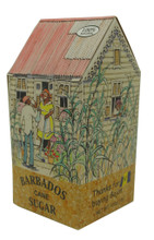 Barbados Chattel House Box filled with Barbados brown sugar.