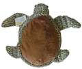 Tilli the turtle is a soft plush with a pouch in her tummy.
