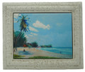 "Framed 6x8"" Tile Accra Beach"